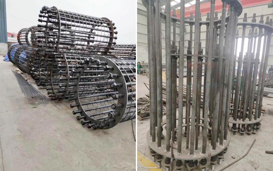 客户定做大型法兰盘预埋件用于固定地面物体工程案例
